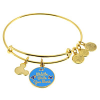 Disney Parks Snow White Whistle Charm Bangle Alex & Ani Gold Finish New