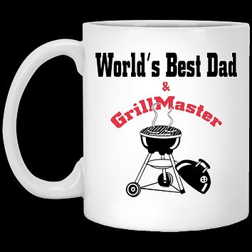 World's Best Dad & Grill Master Ceramic Coffee Mug, Perfect as a Fathers Day Or Birthday Gift For Dad