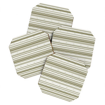 Allyson Johnson Green Aztec Coaster Set