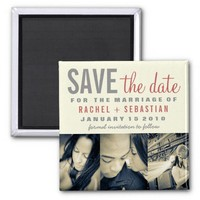 VINTAGE SAVE THE DATE MAGNET from Zazzle.com