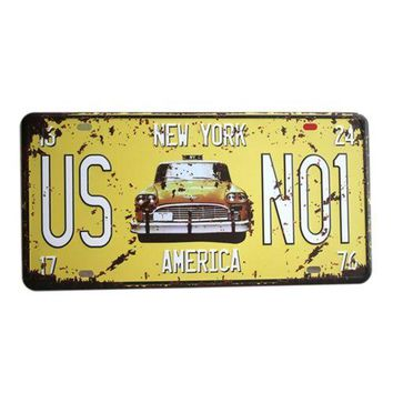 America Vintage Car Plate Wall Hanging Decoration   13