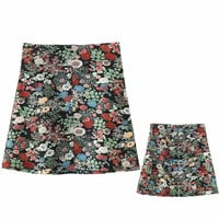 Vintage Floral A-Line Back Pockets Mini Skirt
