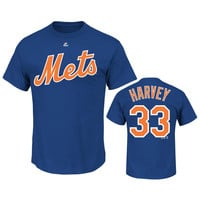 Majestic Matt Harvey New York Mets Player Name & Number T-Shirt  Large