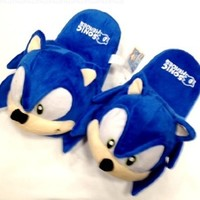 "Sonic Plush Slipper Adult Universal Size up to 10"" long"