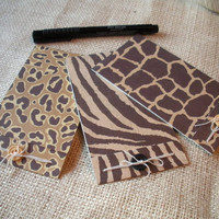 3 Card Glamour Pack Animal Print 3x5 Matchbook Style by BeMyBee