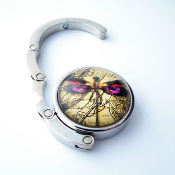 Vintage Style Dragonfly Purse Table Hook Charm