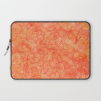 Red and orange doodles Laptop Sleeve by Savousepate