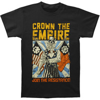 Crown The Empire Men's  Propaganda T-shirt Black Rockabilia