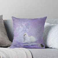 'Beautiful maltese' Throw Pillow by nicky2342