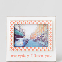 Everyday I Love You Coral Frame