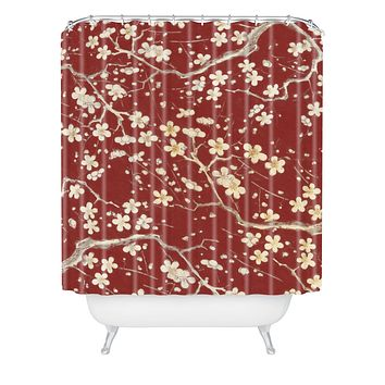 Belle13 Sakura Cherry Blossoms Shower Curtain