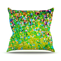 "Ebi Emporium ""Holiday Cheer"" Yellow Green Outdoor Throw Pillow"