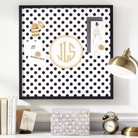 Magnetic Wall Art, Black Dottie with Gold
