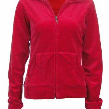 Sutton Studio Women's Velour Track Jacket