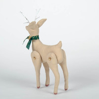 Soft handmade Christmas decoration Deer New Year's tree toy textile ornament
