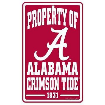 """Licensed Alabama Crimson Tide Official NCAA 12"""" x 7"""" Sign Bama by Wincraft KO_19_1"""