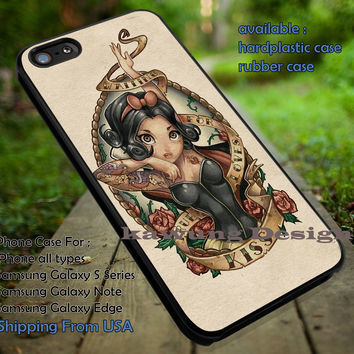 Snow White Tattoo Vintage Art iPhone 6s 6 6s+ 5c 5s Cases Samsung Galaxy s5 s6 Edge+ NOTE 5 4 3 #cartoon #disney #animated #SnowWhite dt