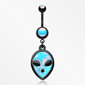 Blackline Iridescent Alien Belly Button Ring