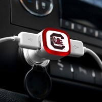 NCAA South Carolina Gamecocks Car Charger, White