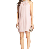 Norah Embellished Chiffon Dress