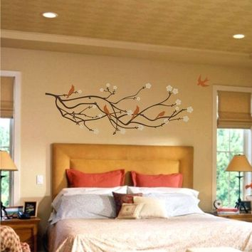 Large Wall Decal Cherry Blossom Branch by ChuckEByrdWallDecals