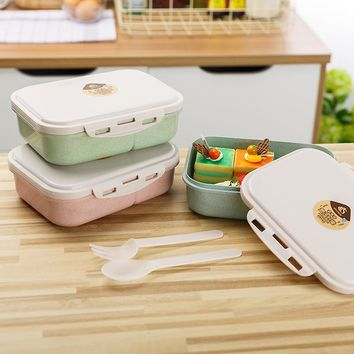 1pcs Lunch Box Kids Bento Box Lunch Plastic Microwave Compartment  Picnic Camping Containers for Food Storage Lunchbox