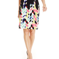 Nine West Geo-Print Pencil Skirt