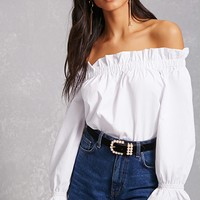 Woven Off-the-Shoulder Top