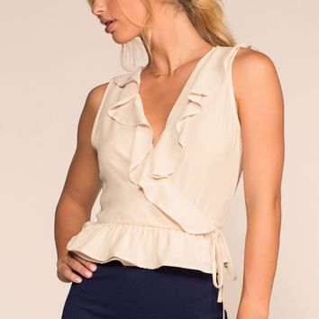 Bel Air Wrap Top - Cream