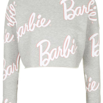 Barbie Cropped Sweater - Grey