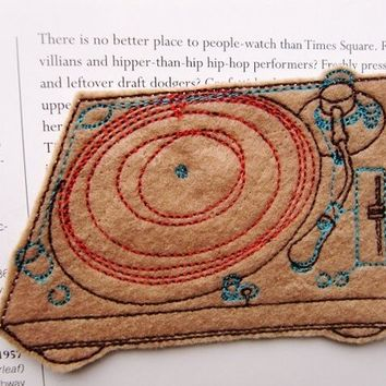 Sew On Patch Turntable Applique