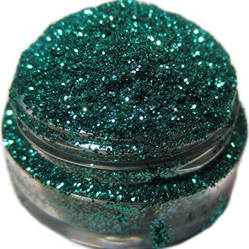 Lumikki Cosmetics Glitter Eye/Face/Lips/Nails Makeup - Teal Green - WISH YOU WERE HERE - Super Pigmented & Rich Color! - Cruelty Free - 5G Volume/2.5G Weight Jar