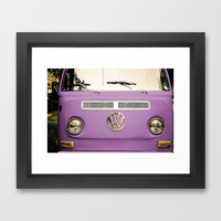 Summer of Love - Radiant Orchid Framed Art Print by Olivia Joy StClaire