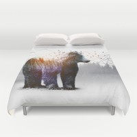 A Wilderness Within / Bear Duvet Cover by Soaring Anchor Designs | Society6
