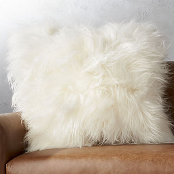 "23"" icelandic sheepskin pillow"