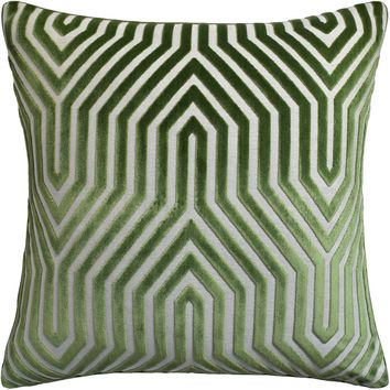 Vanderbilt Velvet Pillow | Lettuce green