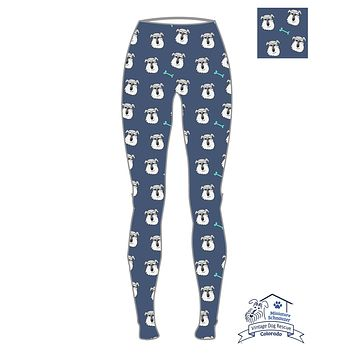 Colorado Mini Schnauzer Rescue Leggings FUNDRAISER (Exclusive)