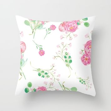 Petite Collection Three Throw Pillow by Vicky Theologidou