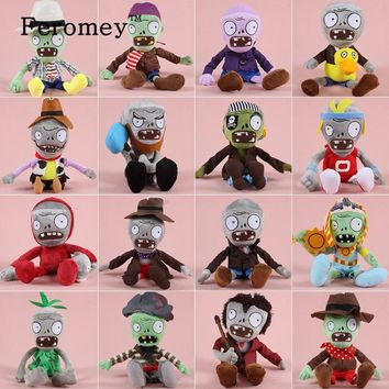Hot Plants VS Zombies Plush Doll Toys Kawaii Plants vs Zombie Soft Stuffed Figure Toys Children Kids Christmas Gift 30cm