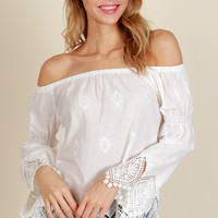 Part of Paradise Blouse White