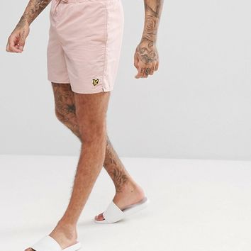 Lyle & Scott Swim Shorts In Dusty Pink at asos.com