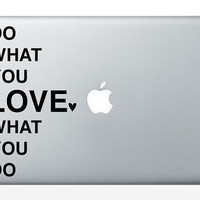 Do What You Love Vinyl Laptop Decal