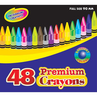 Bazic 48 Count Premium Quality Color Crayon Case Pack 48