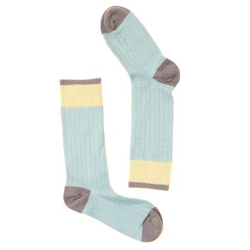 Solid Light Blue with Khaki & Navy Blue Socks