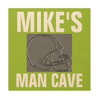 12 X 12 PERSONALIZED FOOTBALL MAN CAVE SIGN WOOD WALL ART