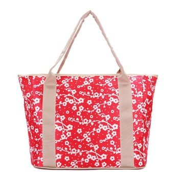 Floral Canvas Casual Top-Handle Bags