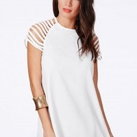 Missguided - Berangaria Swing Dress With Caged Sleeves