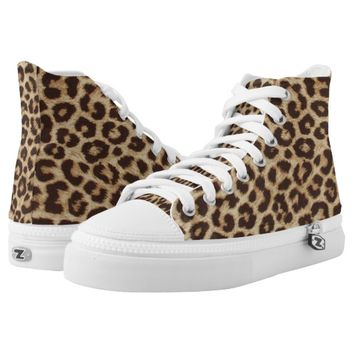 Leopard Print High Top Sneakers