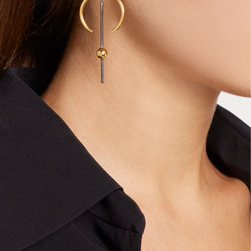 Maria Black - Hydra Medi gold and rhodium-plated earring
