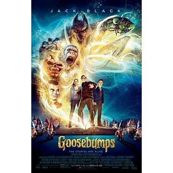 Goosebumps Movie poster Metal Sign Wall Art 8in x 12in